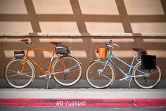 His and hers bikes...