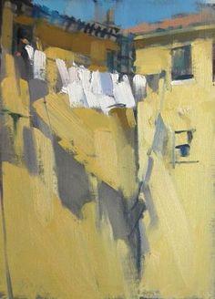 Laundry, Yellow Wall