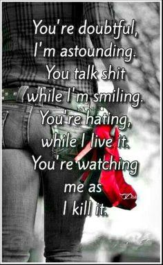 Watch me, as I kill it.