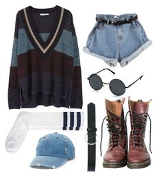 """""""Grunge"""" by lavinia-brams on Polyvore featuring MANGO, Dr. Martens, AORON, American Apparel, Mudd and M&Co"""