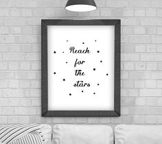 Digital Download 'Reach for the Stars' Typography Poster, Printable Art, Instant Download, Wall Prints, Digital Art, typography quote by KirstyPDesigns on Etsy Typography Quotes, Typography Poster, Typography Design, Wall Prints, Poster Prints, Reaching For The Stars, Love You, My Love, Frame It
