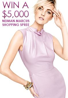 Who wants to shop??? I do! Re-pin and click here to see how you can WIN a Neiman Marcus $5,000 Shopping Spree! http://womanfreebies.com/sweepstakes/neiman-marcus-shopping-spree/?win *Expires April 15, 2013*