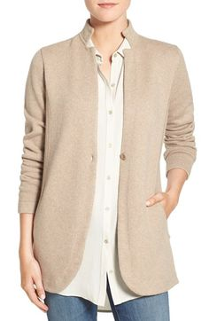 Great Eileen Fisher cardigan that can stand in for a jacket. Definitely runs large.