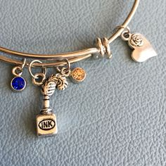 A personal favorite from my Etsy shop https://www.etsy.com/listing/223972775/silver-bracelet-inspired-by-alex-ani