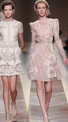 valentino 2012 short dresses -- Valentino Spring 2012 Ready-to-Wear Love Fashion, Runway Fashion, High Fashion, Fashion Show, Womens Fashion, Fashion Design, Style Fashion, I Dress, Dress Party