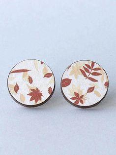 Autumn leaf earrings by HandmadeEarringsUK on Etsy