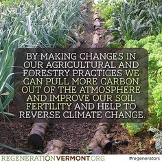 FACT: Regeneration is the key! Share if you agree. #regenerationVT #regenerativeag #regenerators
