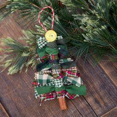 Scrap Fabric Tree Ornaments