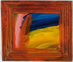 Going for a walk with Andrew, 1995-1998, by Howard Hodgkin.