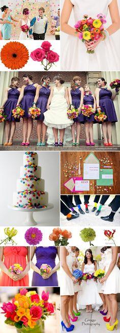 Confetti Wedding Inspiration - Wedding Trend for 2014 - Wedding Flower Trends #WeddingFlowers #WeddingTrends #2014WeddingTrends