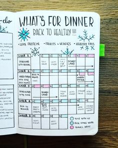 January 2018 - Monthly Meal Plan  https://www.instagram.com/my_blue_sky_design/