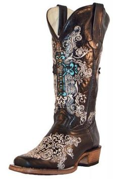 Dusty Rocker Dally Black- Nothing But Rodeo Collection Boots Urban Western Wear Country Boots, Western Boots, Western Wear, Western Girl, Western Outfits, Womens Cowgirl Boots, Cowgirl Style, Over Boots, Boot Bling