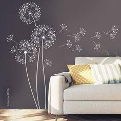 Wandtattoo  Pusteblume mit Flugsamen, 151cm hoch, Löwenzahn Wandsticker Wandaufkleber Zuhause Wand Aufkleber Sticker Kreative Deko w317b von Grafolex auf Etsy