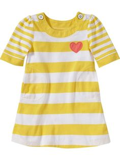 Old Navy | Striped 3/4-Sleeve Shift Dresses for Baby