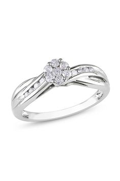 .3CT Round Diamond Ring In 10k White Gold