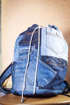 Zaino denim Tasche di bRucksack su Etsy
