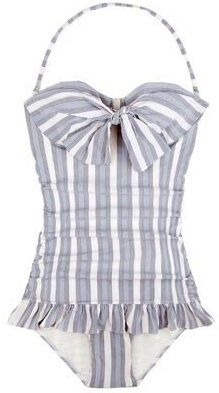 I never like one pieces, but I think this is cute with the big bow and ruffle. However would never pay $164 for it. :P