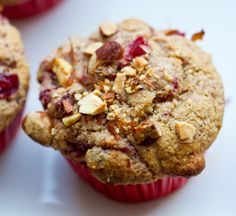 cranberry-almond-muffins-vegan_ make it gf with easy sub!