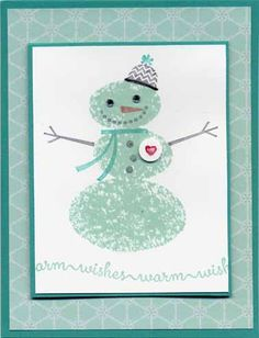 """Christmas card using Stampin Up designer paper """"Winter Frost"""" and """"Snow Day"""" stamp set"""