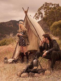 Caroline Trentini et Hozier photographiés par Mikael Jansson pour Vogue US juin 2015