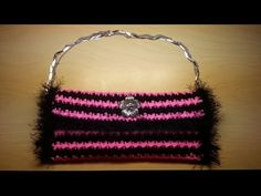 Learn to Crochet this Furry Handbag Free Tutorial Easy for Beginners DIY Pattern #2 - YouTube