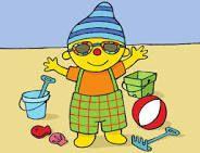 Puk op het strand