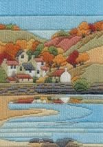 Coastal Autumn Long Stitch Kit by Derwentwater Designs from the range 'Seasons in Long Stitch' designed by Rose Swalwell.