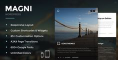 Magni - Responsive WordPress Blog Theme • Download theme ➝…