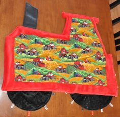 A MEGA TRACTOR MINKLE!  This is the back! Cuddle Buddy, Minky Fabric, Needle And Thread, All In One, Making Out, Tractors