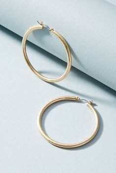 Anthropologie Galina Hoop Earrings 01vXs