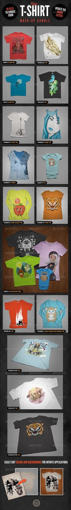 T-Shirt Mockups Bundle Pack » Free Special GFX Posts Vectors AEP Projects PSD Web Templates