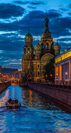 Griboedov Canal leading to Church of Our Savior on Spilled Blood in the historic center of St. Petersburg, Russia • photo: Pasquale Di Pilato on 500px