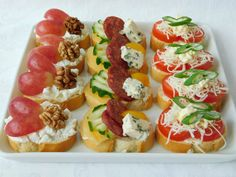 Mini Appetizers, Appetizer Recipes, Food On Sticks, Twisted Recipes, Tasty, Yummy Food, Finger Foods, Food Videos, Holiday Recipes