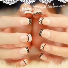 Aliexpress.com : Buy High quality Short design french nail tips,lace acrylic…