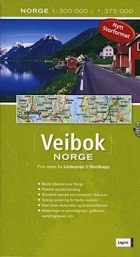 Atlas routier de Norvège au 1:300 000 - Atlas Veibok Norge