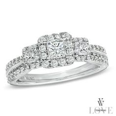 The polished shank is lined with round accent diamonds on all sides, ensuring sparkle from any angle.