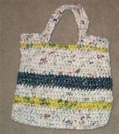 Crochet a plastic bag purse. Great for the beach!