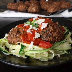 (Zucchini) Spaghetti and (Veggie) Meatballs - Get Off Your Tush and Cook!