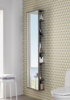 ONE SPEIL I HELFIGUR MED OPPBEVARING HVIT MATT - Hafa Baderom Bath And Beyond, Mirror, Bathroom, Frame, Vit, Furniture, Home Decor, Tutorials, Cloakroom Basin