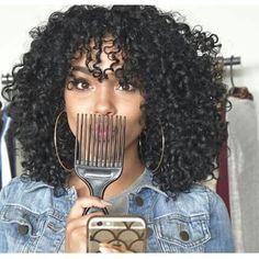Afro hair of girls