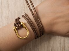 horseshoe wrap bracelet diy