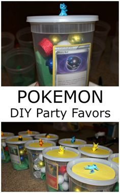 OK Pokemon fans! You're party favors are here! Pokemon DIY Party Favors featuring @rmpalmerco Candy