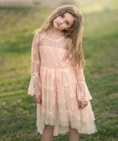 Take a look at this Just Couture Clementine Pink Lace & Tulle Bell-Sleeve Dress - Toddler & Girls today! Princess Outfits, Girl Outfits, Bell Sleeve Dress, Bell Sleeves, Maya Fashion, Toddler Girl Dresses, Toddler Girls, Baby Girl Princess, Wedding Flower Girl Dresses