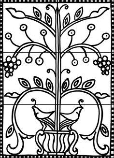 Standard Mural Line Drawings — Metolius Ridge Artisan Tile