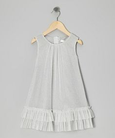 Take a look at this Silver Sparkle Swing Dress - Infant, Toddler & Girls by Designer Kidz on #zulily today!