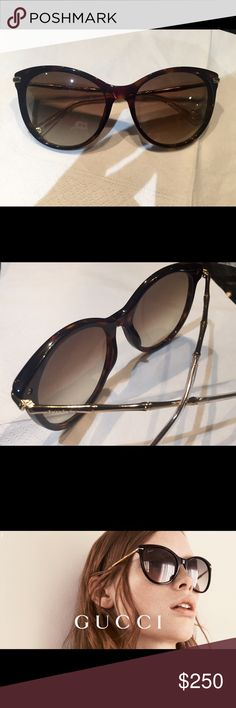 "Gucci 3771/S Sunglasess ""Gucci 377/S"" size 54 col. Brown and gold! Brand New.  Also available in black Gucci Accessories Glasses"