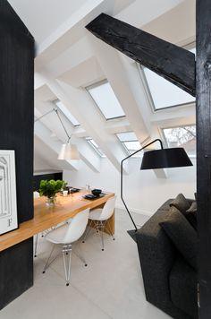 OOOOX   NAD VODOVODEM - loft window above the dining table