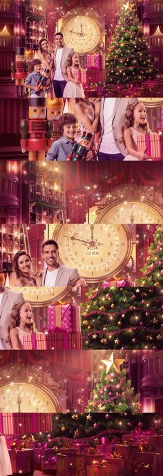 "Image produced to Bourbon Shopping campaign ""Christmas Wishes"" through Matriz Agency."