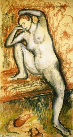 Edgar Degas, 'Study of a Dancer', pastel on paper