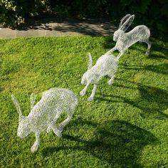Chris Moss sculptures will be on display in Stillingfleet garden in August. Love 'em